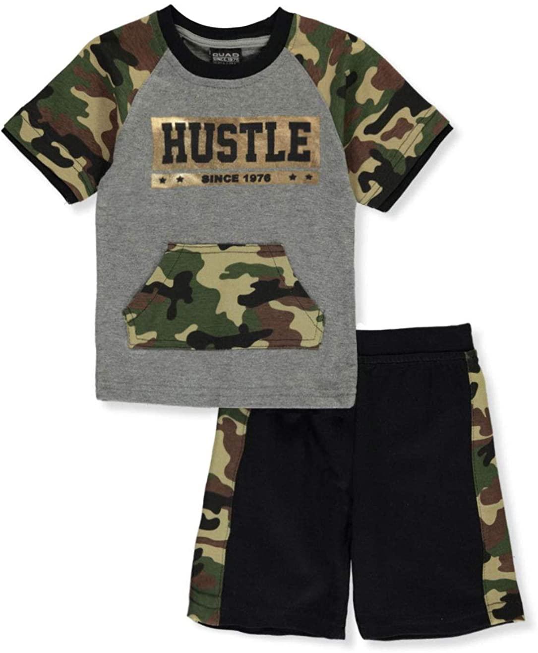 Quad Seven Baby Boys' Hustle Camo 2-Piece Shorts Set Outfit