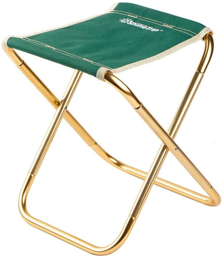 RUIXFTS ComfortableFolding Chairs, Folding Stool 7075 Aluminum Alloy Fishing Chair Portable Travel Beach Chair Mazar Train Folding Stool Gift, D