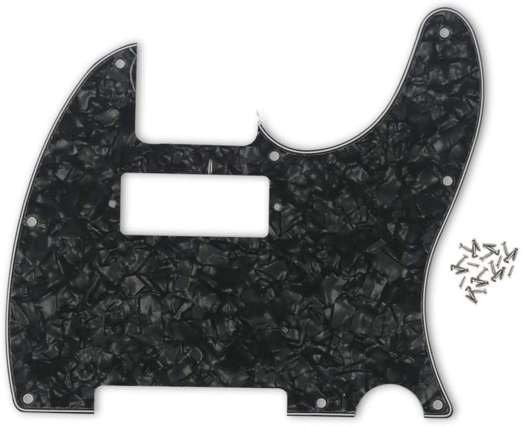 FLEOR 4Ply Black Pearl Tele Guitar Humbucker Pick Guard Plate w/Screws Fit USA/Mexican Made Fender Telecaster Part