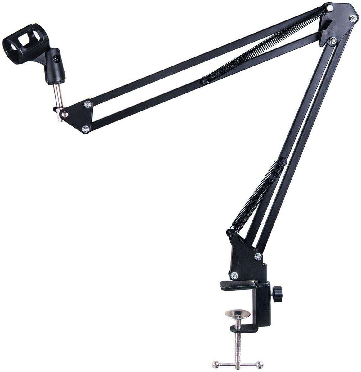Studio Microphone Stand, Suspension Boom Scissor Arm Stand, Desktop Mic Holder for Broadcasting, Stage, TV Station