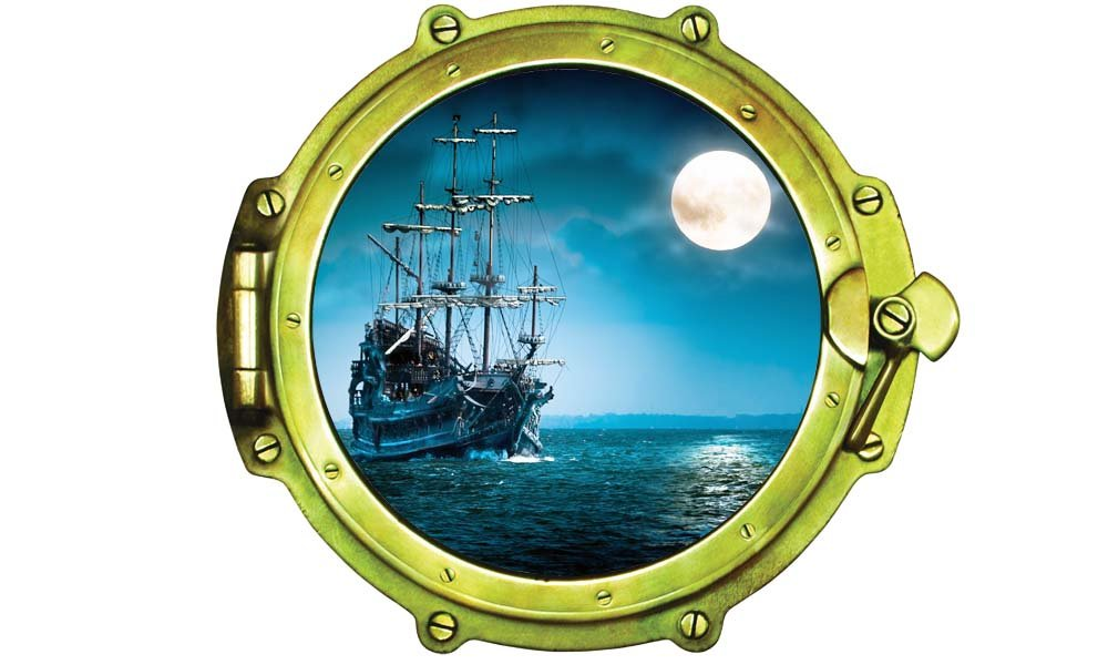 Pirate Ship with Moon Porthole 12