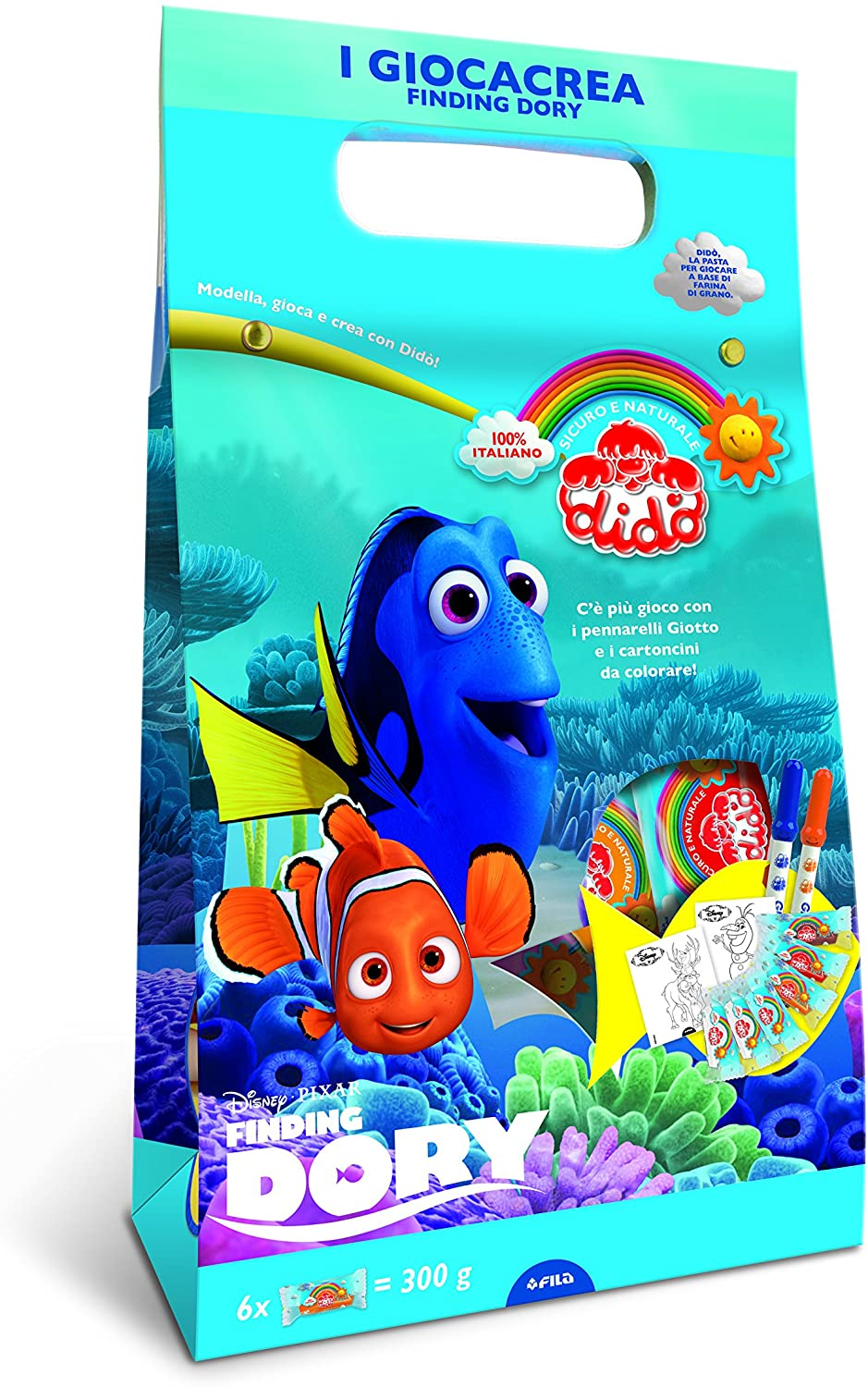 Didò 342100 – Modelling Clay giocacrea Finding Dory, Assorted Colours