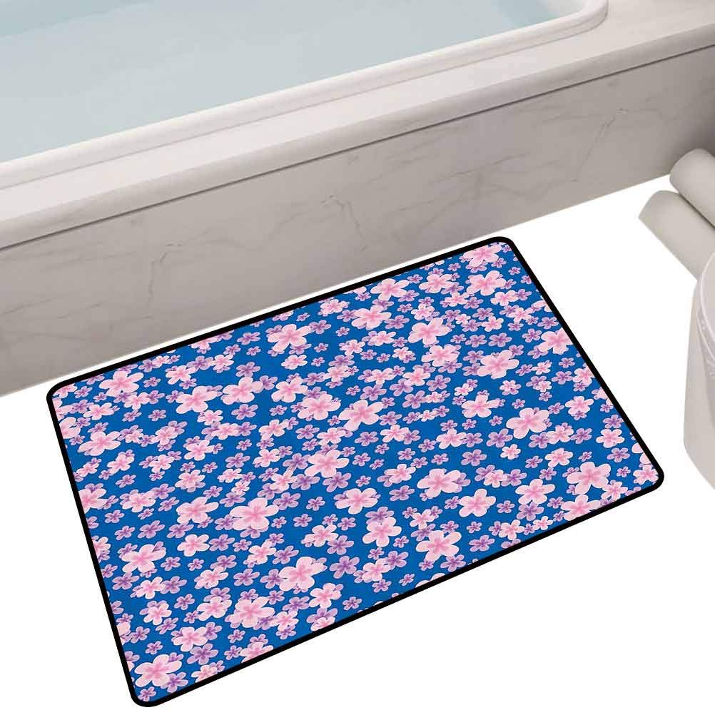 Outdoor Floor Mats Floral Classic Fabric Design Style Art Bloom Natural Lawn Backyard Cheering Image,35