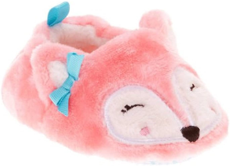 Girls Boys Baby Critter Animals Prewalk Pre Walk Slippers - Cat Fox Bear