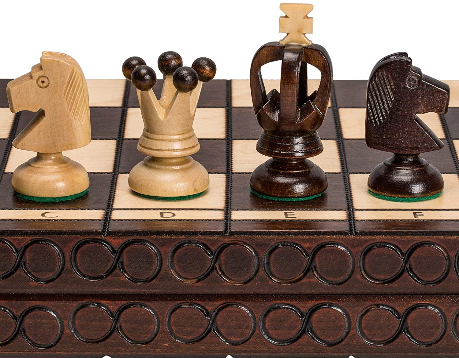 Husaria European International Chess Wooden Game Set - King's - 17.3 Inches