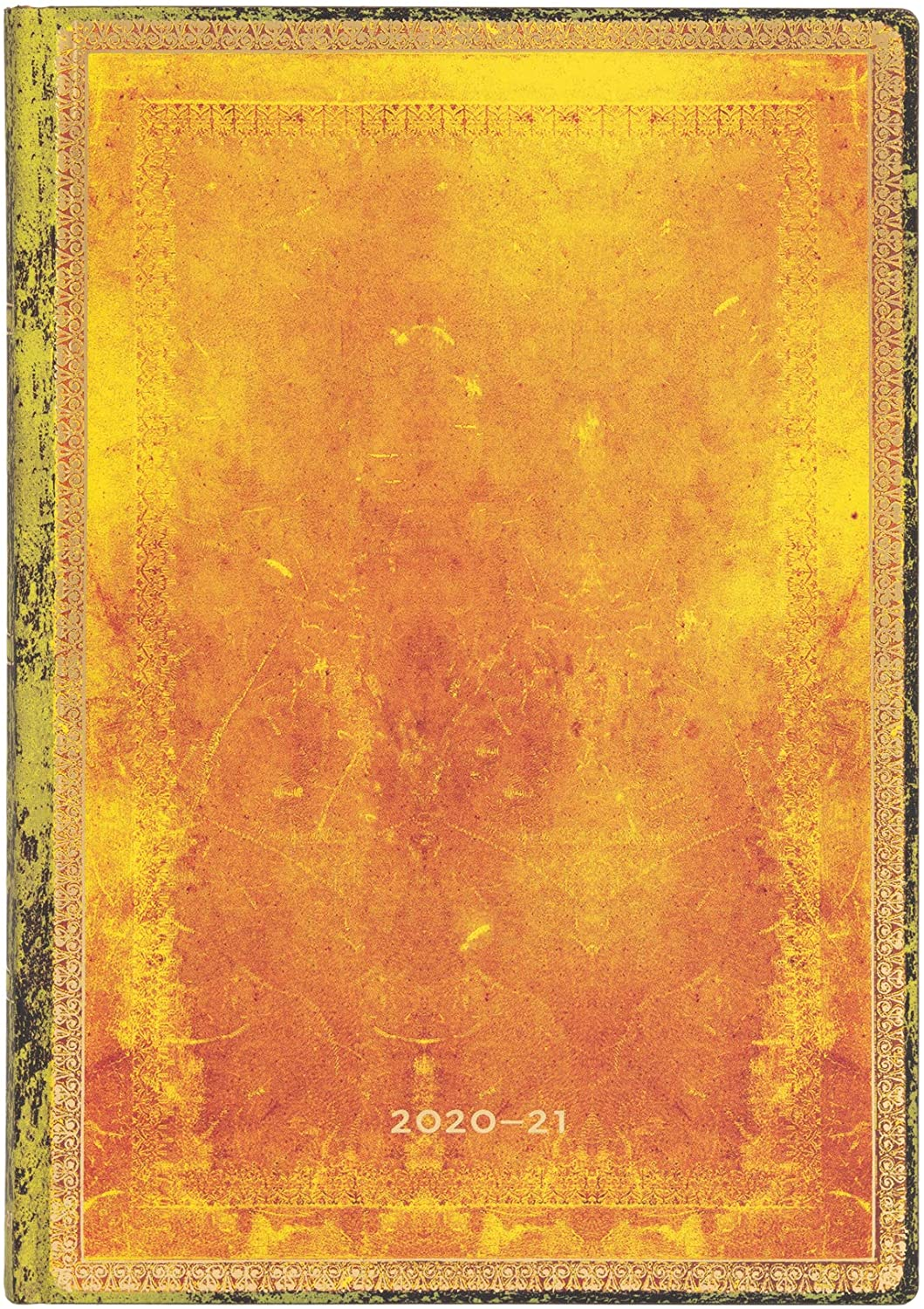 Paperblanks Flexi 2020-2021 18 Monthly Calendar Softcover Ochre Horizontal Midi (130 x 180 mm)
