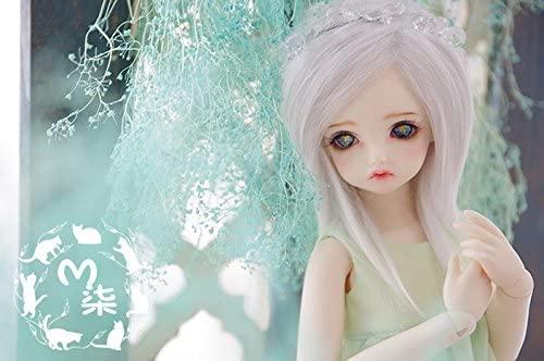 7-8inch(18-19cm): 1/4 BJD Kurhn Fur Wig Dollfie, MSD Doll, Multicolor Long Straight Hair