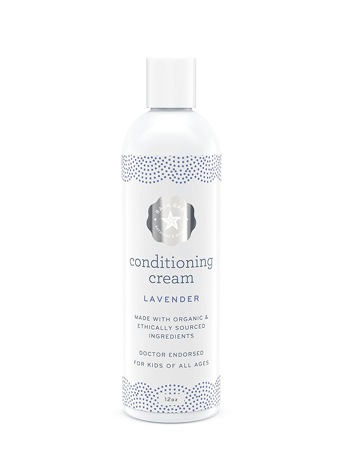 Organic Lavender Conditioner - EWG VERIFIED - Light Lavender Scent - 12 Fluid Ounces Family Size - No Chemicals, Sulphates, Parabens or Phosphates - Light Conditioner For Baby Hair