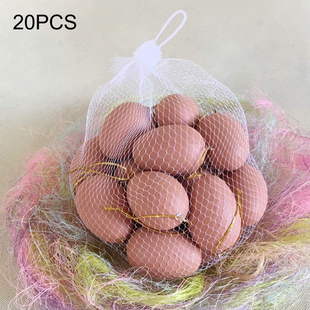 2Krmstr 20 Pcs Realistic Easter Egg, Plastic Chicken Eggs Toy Food Playset, Pretend Play Artificial Home Decor for Kids