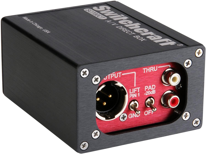 Switchcraft SC700CT A/V Audio/Video Direct Box, Custom Transformer