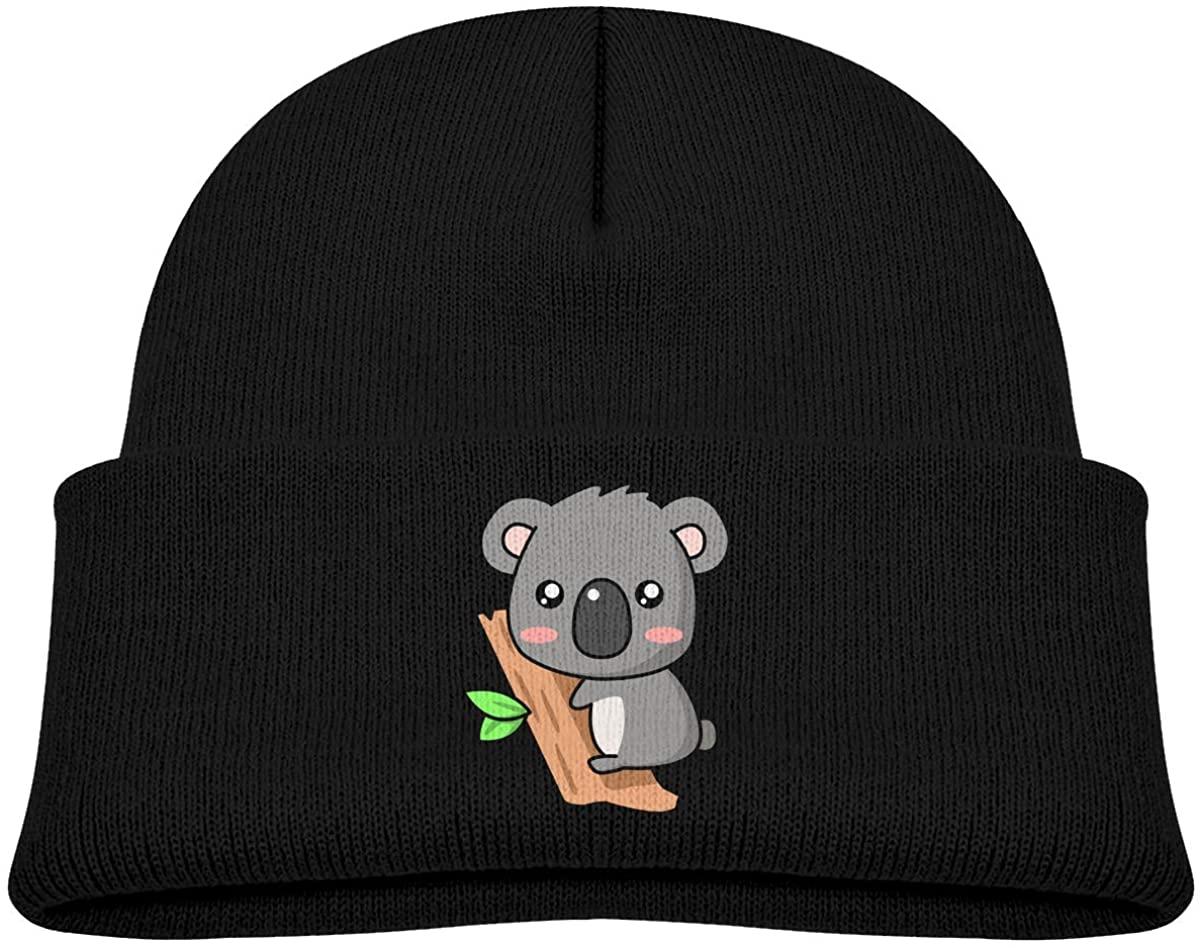 Toddlers Beanie Cute Koala Cuffed Knit Hat Skull Cap