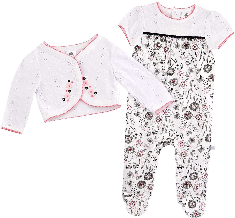 Just Born Baby Girls' Madeline Sleep N' Play and Cardigan Set
