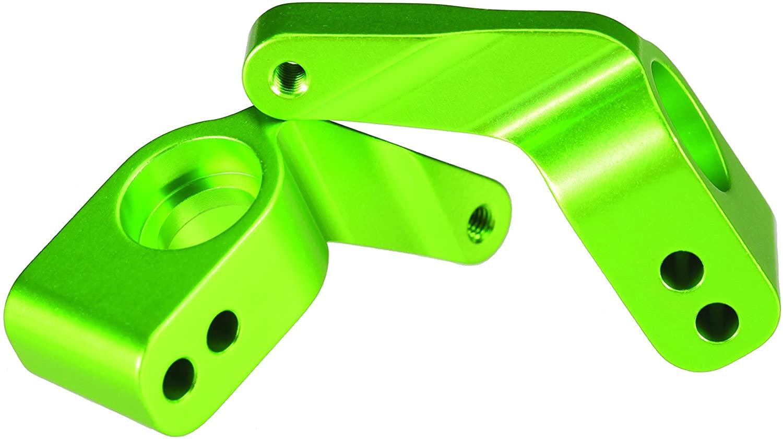 Traxxas 3652G Green-Anodized 6061-T6  Aluminum Rear Stub Axle Carriers (pair)