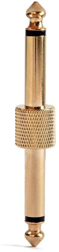 SUPVOX 1/4 Guitar Effect Pedal Coupler Connector Pedal to Pedal Connector for Guitar (Golden)