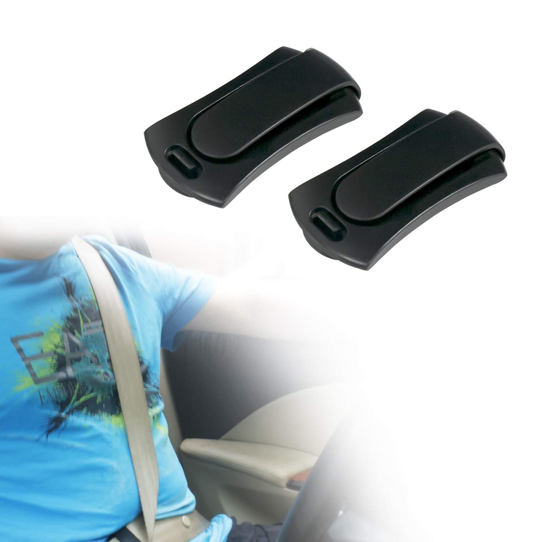 Prova Tech Seatbelt Adjuster, 2 Pack Comfortable and Universal Seat Belt Clip Cover – No Irritation