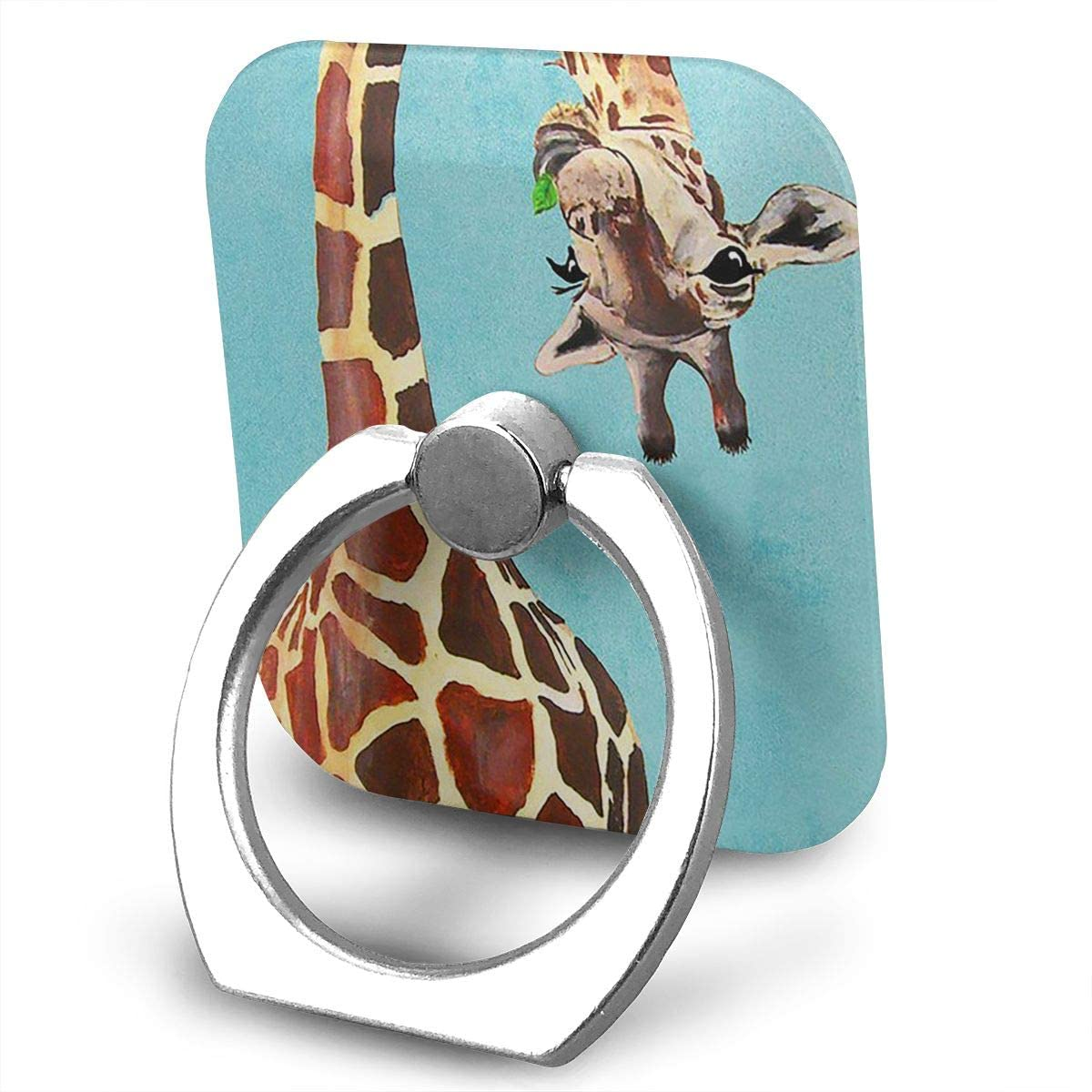 BLDBZQ Cell Phone Ring Holder Funny Giraffe Finger Grip Stand Holder 360 Degrees Rotation Compatible with iPhone Samsung Phone Case