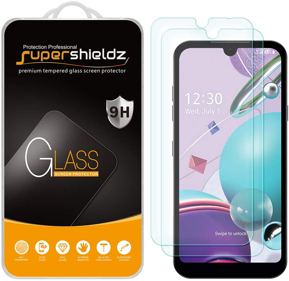 (2 Pack) Supershieldz for LG Aristo 5 and Aristo 5 Plus Tempered Glass Screen Protector, Anti Scratch, Bubble Free