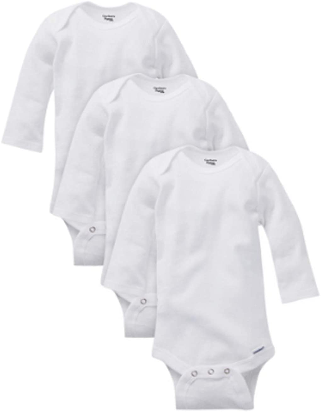 Gerber White Organic Cotton Long Sleeve Onesies Bodysuits, Preemie 3pk (Baby Boys or Baby Girls, Unisex) Preemie