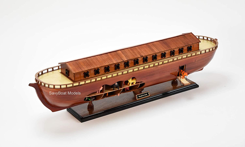 Noah's Ark Handmade Wooden Ship Model 33