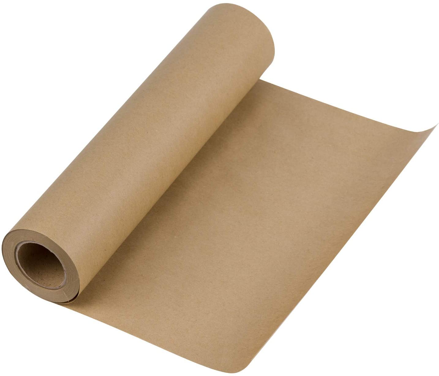 RUSPEPA Brown Kraft Paper Roll - 12 inch x 100 Feet - Natural Recyclable Paper Perfect for Crafts, Art, Small Gift Wrapping, Packing, Postal, Shipping, Dunnage & Parcel