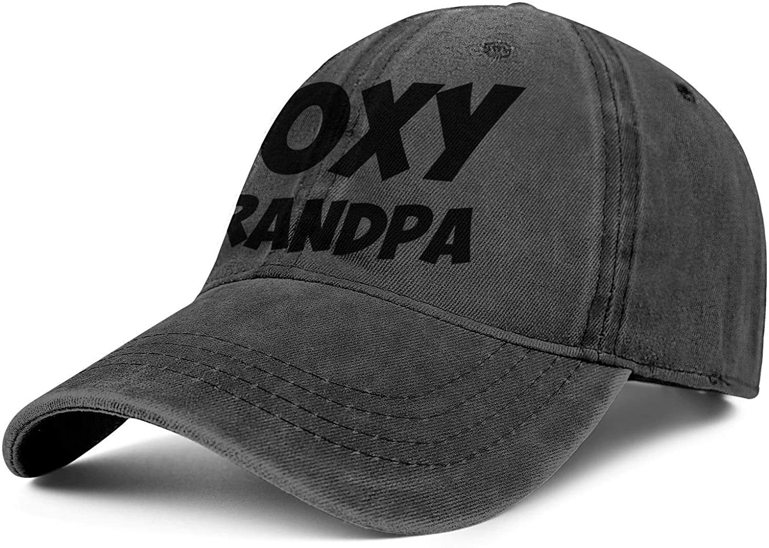 Foxy Grandpa Unisex Stylish Washed All Cotton Flat Cap Fitted Snapback hat Sport Cap