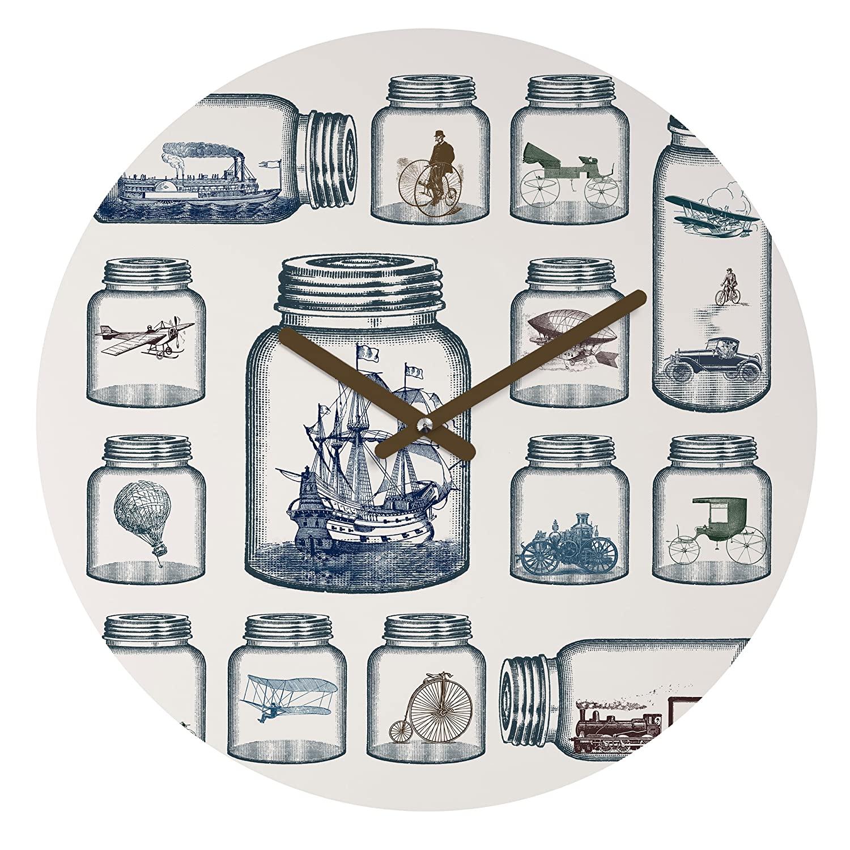 Deny Designs Belle13, Vintage Preservation, Round Clock, Round, 12
