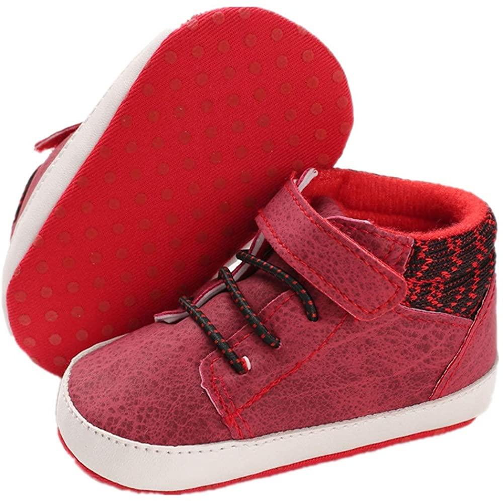 BENHERO Baby Boys Girls High Top Sneakers Anti-Slip Sole Infant Toddler First Walker Outdoor Newborn Crib Shoes
