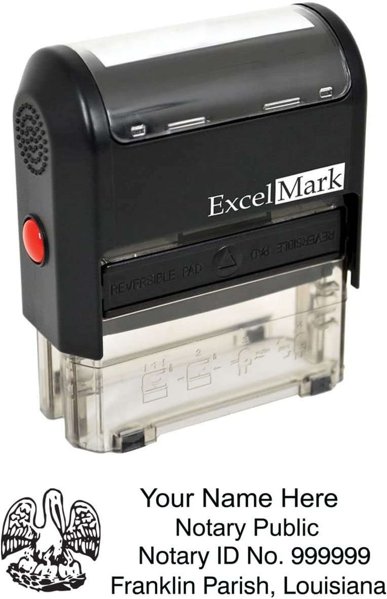 ExcelMark Self Inking Notary Stamp - Louisiana