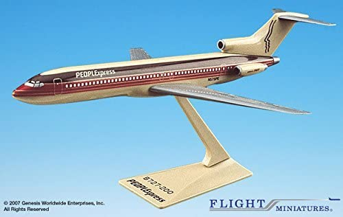PEOPLExpress (81-87) 727-200 Airplane Miniature Model Plastic Snap Fit 1:200 Part# ABO-72720H-016