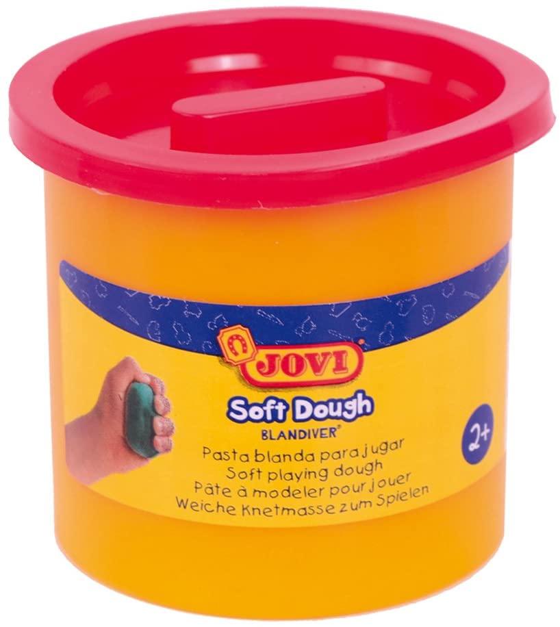 Jovi–Soft Dough blandiver, Case of 5Jars, 110g, Red (45003)