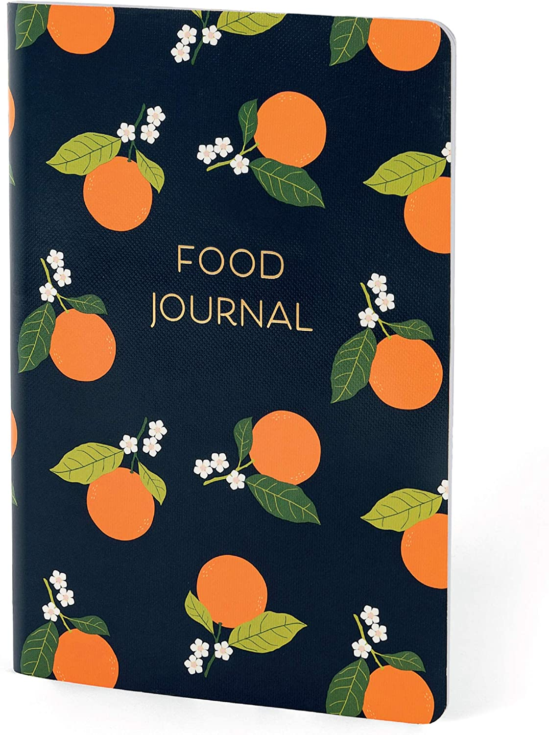 Boxclever Press Food Journal for a Healthier Lifestyle. Food Diary and Food Journal Log Book. Portable Daily Planner to Use with Weight Watchers, Diets or Personal Training Plans. (Orange Blossom)