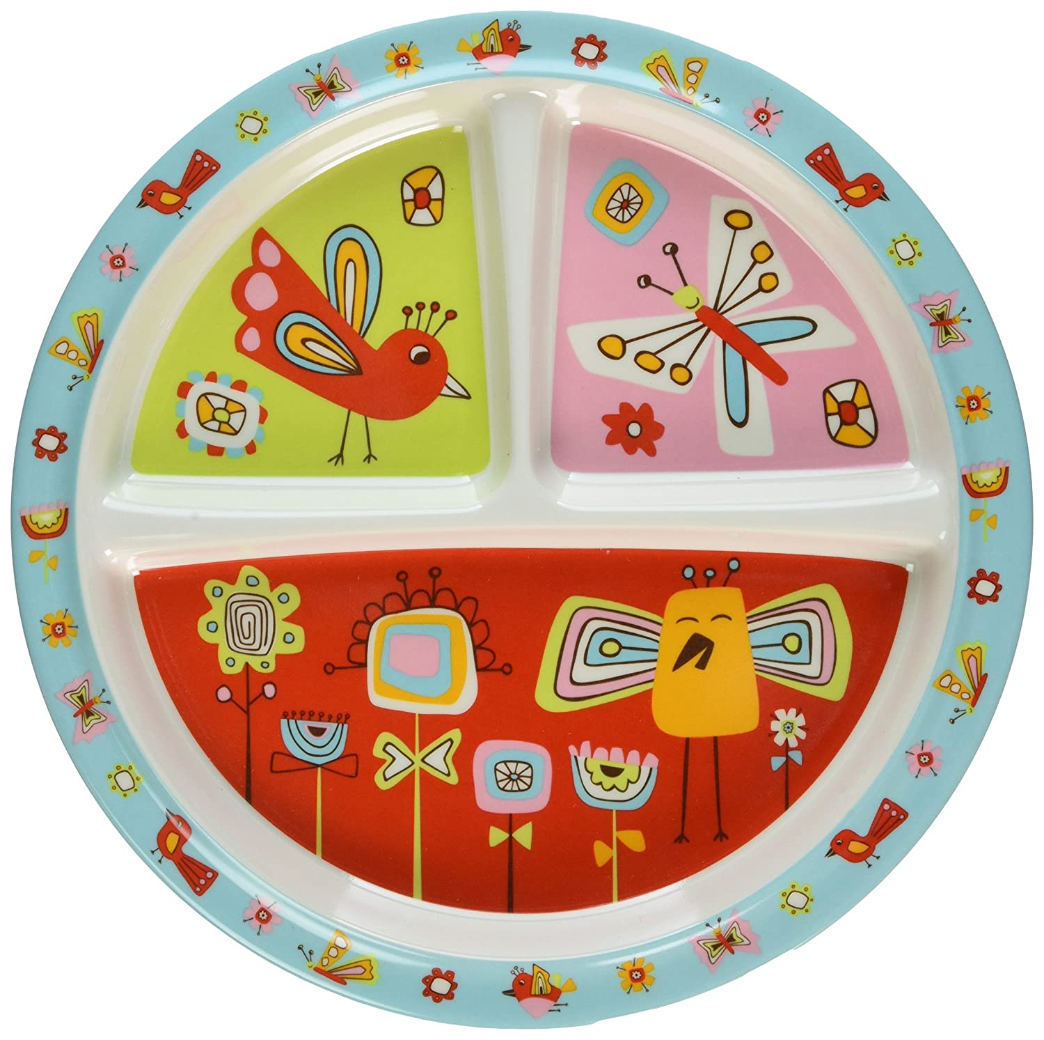 Sugarbooger Divided Suction Plate, Birds & Butterflies
