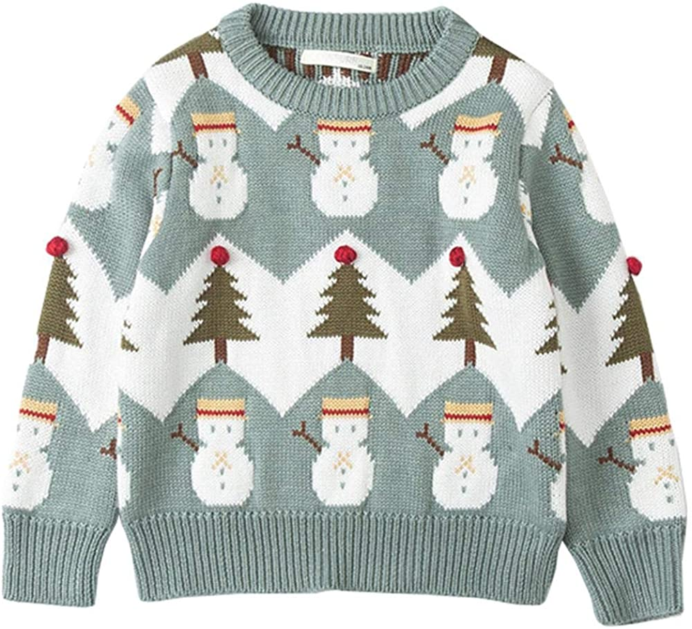 Wennikids Baby Girls & Boys Christmas Sweaters Xmas Snowman Family Clothes Mommy and Me Sweatshirt