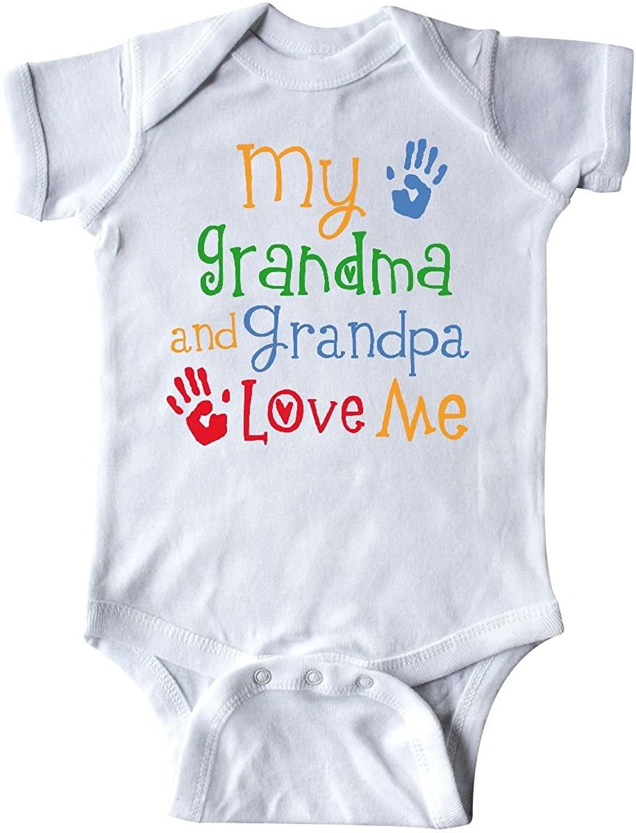 inktastic My Grandma and Grandpa Love Me Infant Creeper