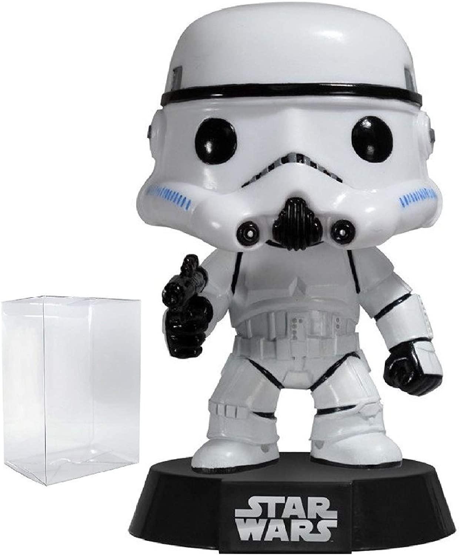 Funko Pop! Star Wars: Classic Stormtrooper #05 Vinyl Bobble-Head Figure (Bundled with Pop Box Protector Case)