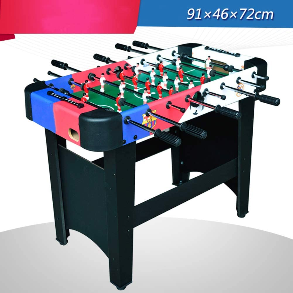 softneco Portable Tabletop Soccer Game for Indoor Leisure,Wooden Football Table for Kids and Adults,Compact Foosball Table with ABS Handle A