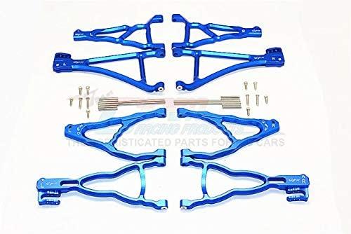 Parts & Accessories TRX REVO/E-REVO/Summit Alloy Front+Rear Upper & Lower Suspension ARM - 8PCS Set (for E-REVO 560871, REVO, Summit) - ER4567 - (Color: Orange)