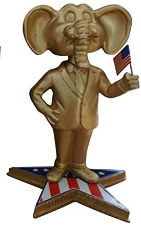 Elephant Republican Party GOP Political Symbol Bobblehead (gold variant version)