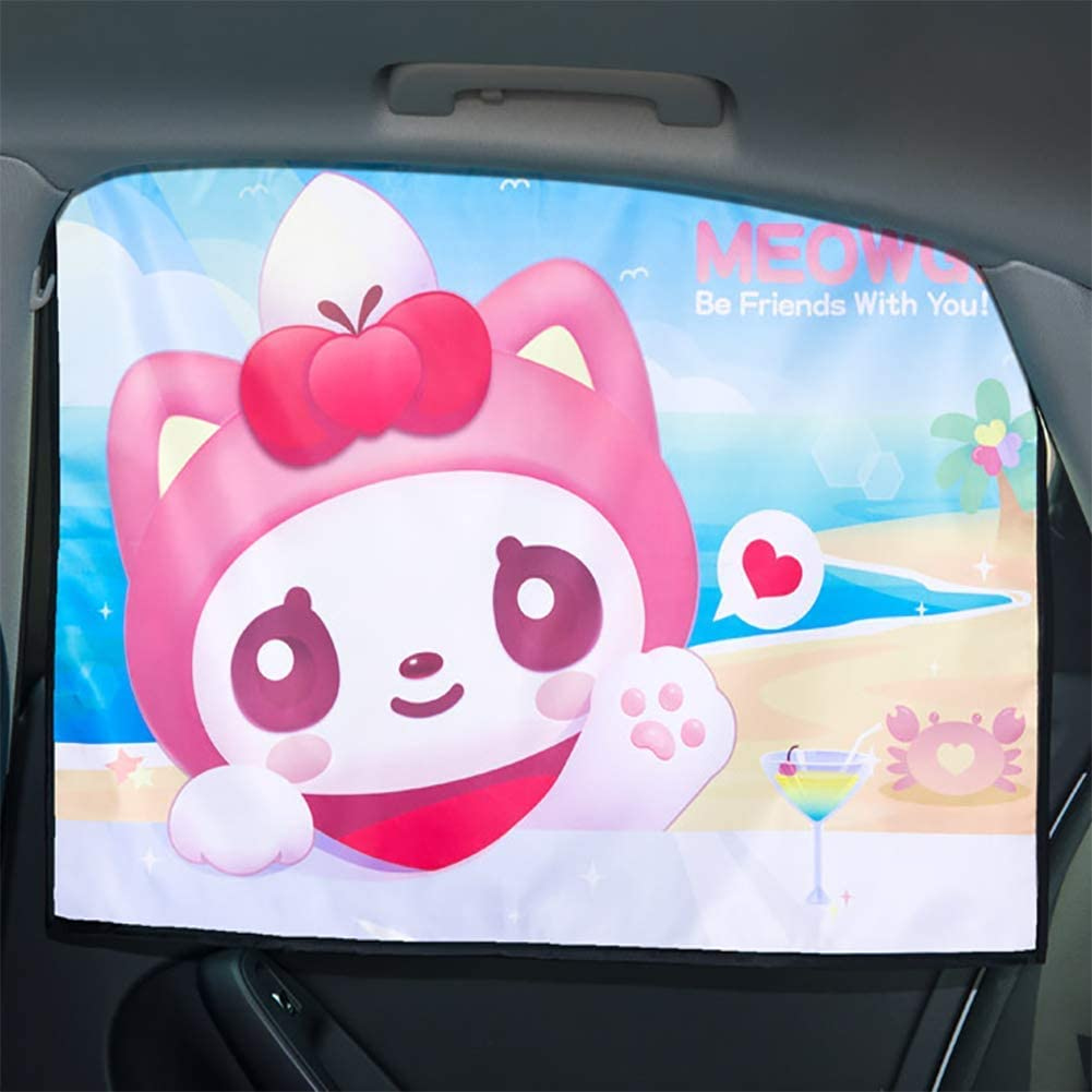 LALEO Car Window Shade,1PCS Cartoon Magnetic Cartoon for Child Baby UV Protection,Side Window Sunshades,E