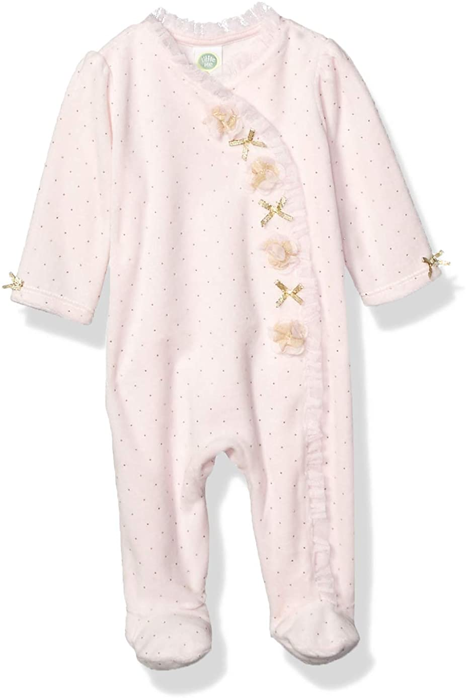 Little Me Baby Girl's Velour Footie Pants
