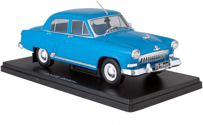 GAZ-21 - Volga Blue 1956 (1958) Year - Legendary Soviet Car - 1/24 Collectible Model Vehicle - Gorkovsky Avtomobilniy Zavod - Gorky Automobile Factory
