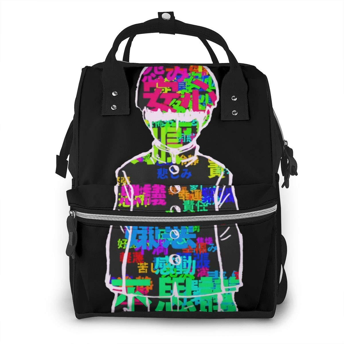 Mob Psycho 100 Shigeo Kageyama Diaper Bag Waterproof Travel Backpack Bags for Baby Care Mummy Backpack