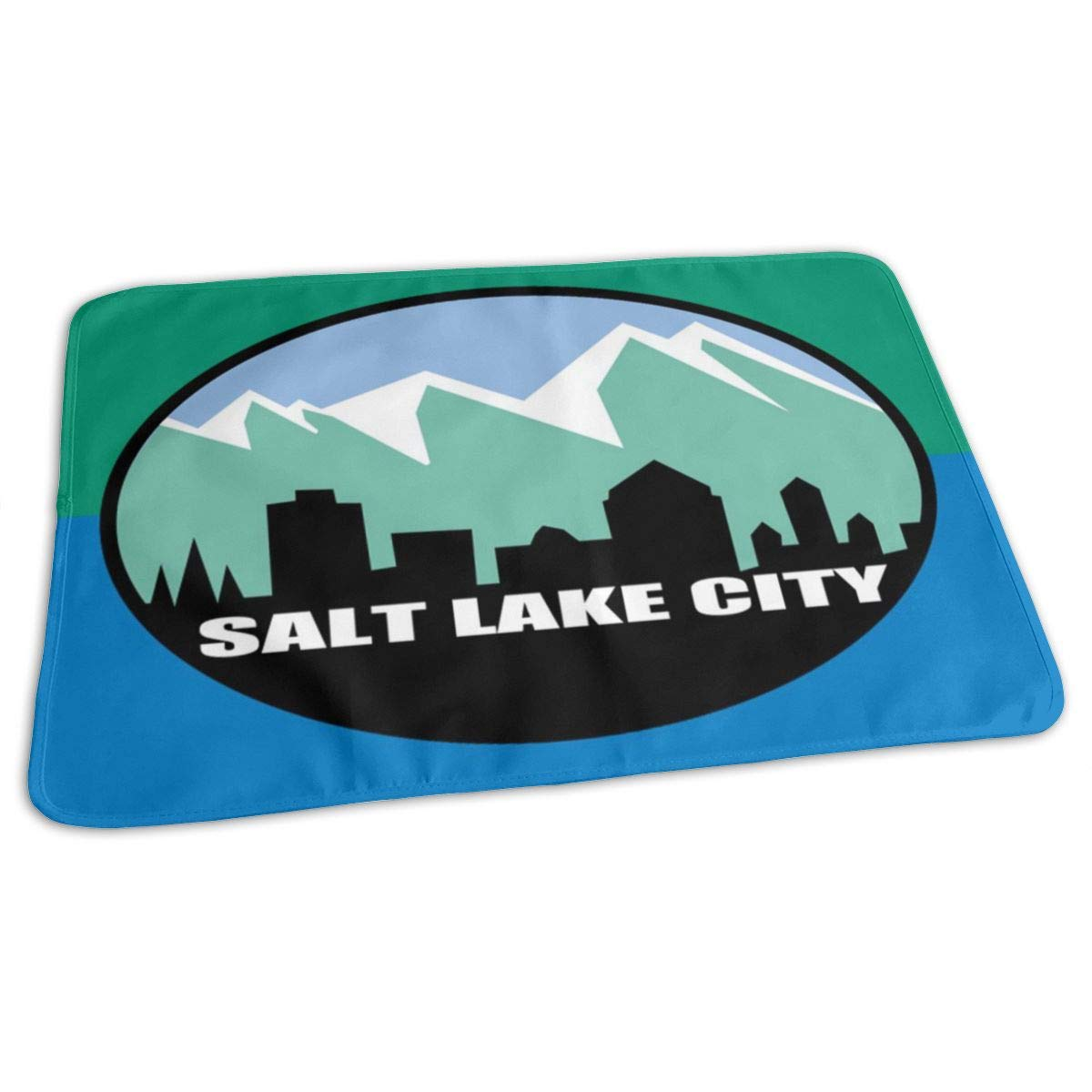 Flag of Salt Lake City Baby Changing Pad Waterproof Portable Changing Pad Home Travel 27.5¡±x19.7¡±