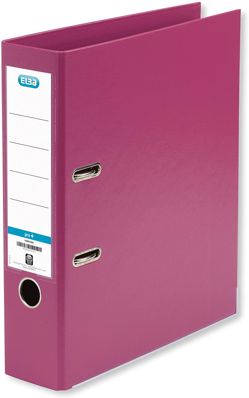 Elba Smart Pro+ 10468PI Folder A4 8 cm Spine Interchangeable Spine Label Pack of 10 Pink