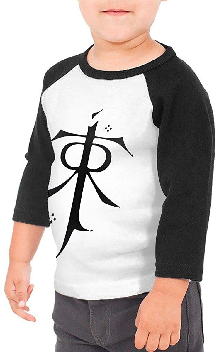 SHAADAMSNICKA Toddler Baby Girls Boys Tolkien Daily 3/4 Sleeve Raglan Shirt Baseball Tee Cotton T-Shirt