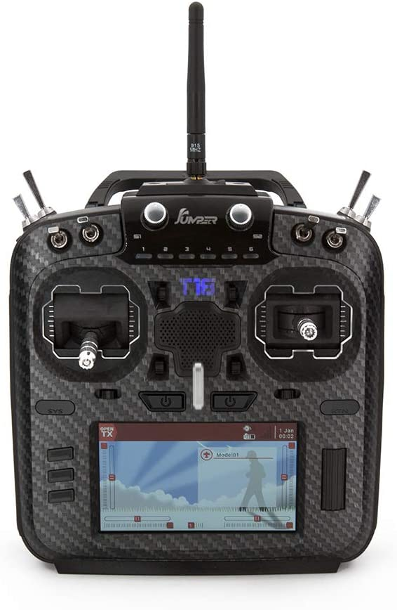 Heli-Nation Jumper T18 JP5-in-1 Multi-Protocol RF Module OpenTX Radio with Hall Gimbals Carbon Faceplate Mode 2