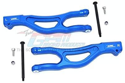 Arrma 1/5 KRATON 8S BLX/Outcast 8S BLX Upgrade Parts Aluminum Front Upper Arms - 2Pc Set Blue