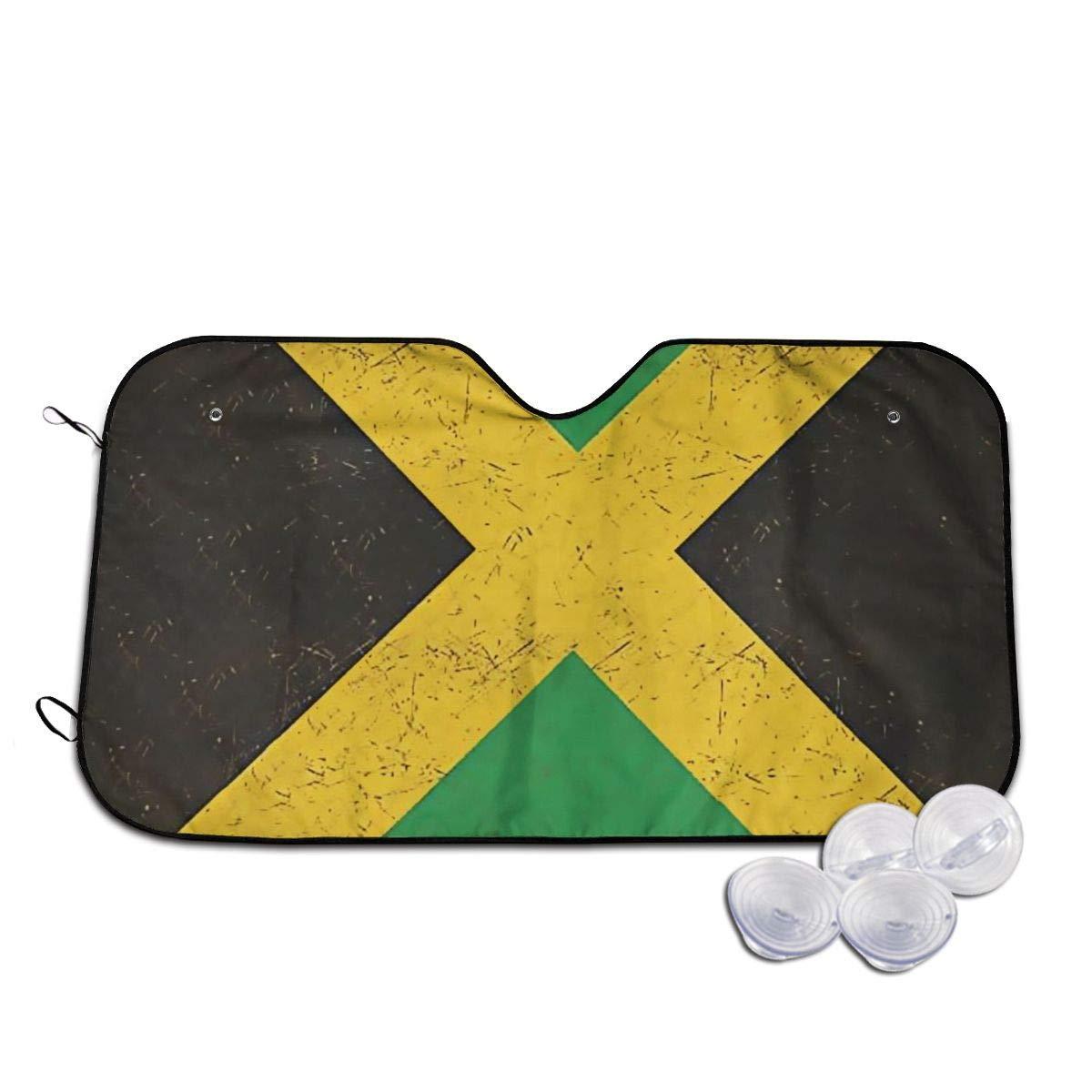 Jamaican Flag Windshields Sun Shade 3D Printed Long Lasting