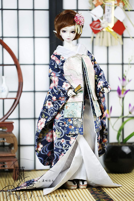softgege 1/3 SD10 DD BJD Doll Dress / Japanese Style Dress Suit Outfit / Japanese BJD Kimono The Plum Flower
