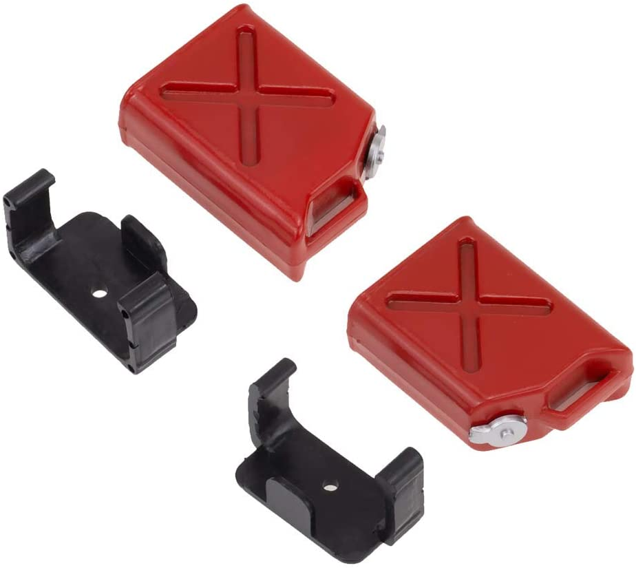 2pcs Plastic Mini Fuel Tank for RC 1/10 Crawler Car Scale Decoration Accessory